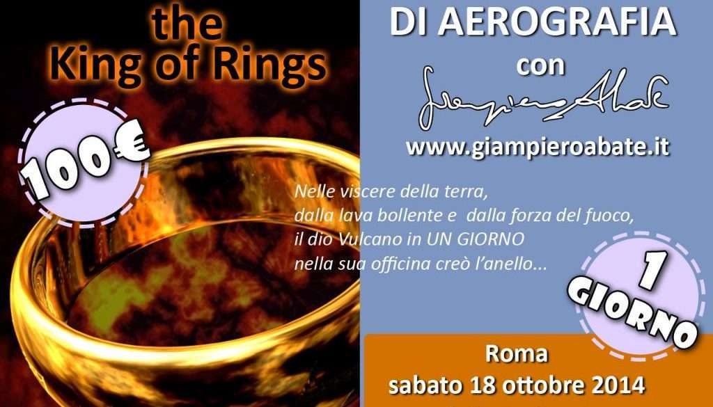 Workshop di Aerografia Roma King of Rings