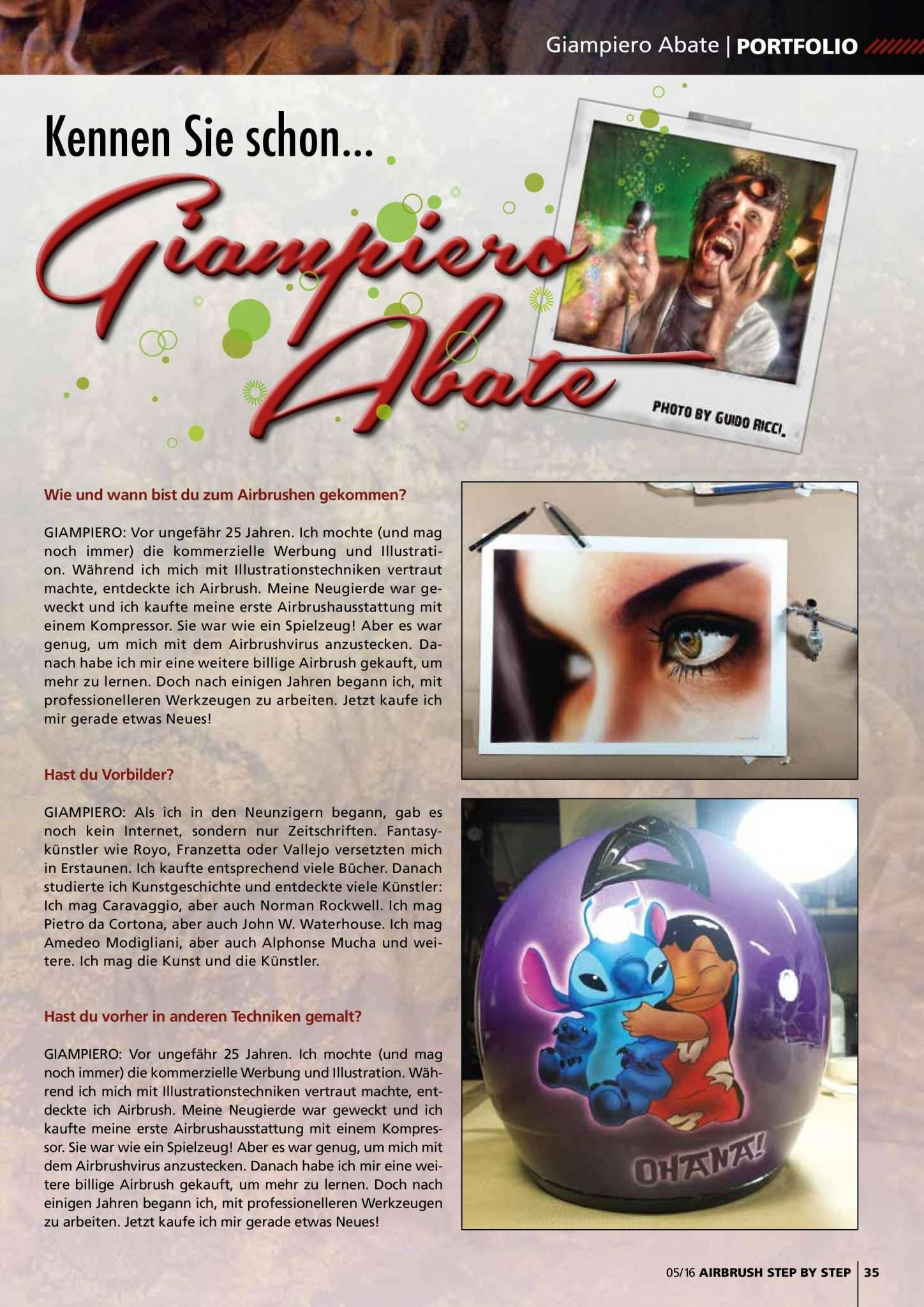 Intervista su Airbrush Step by Step Magazin