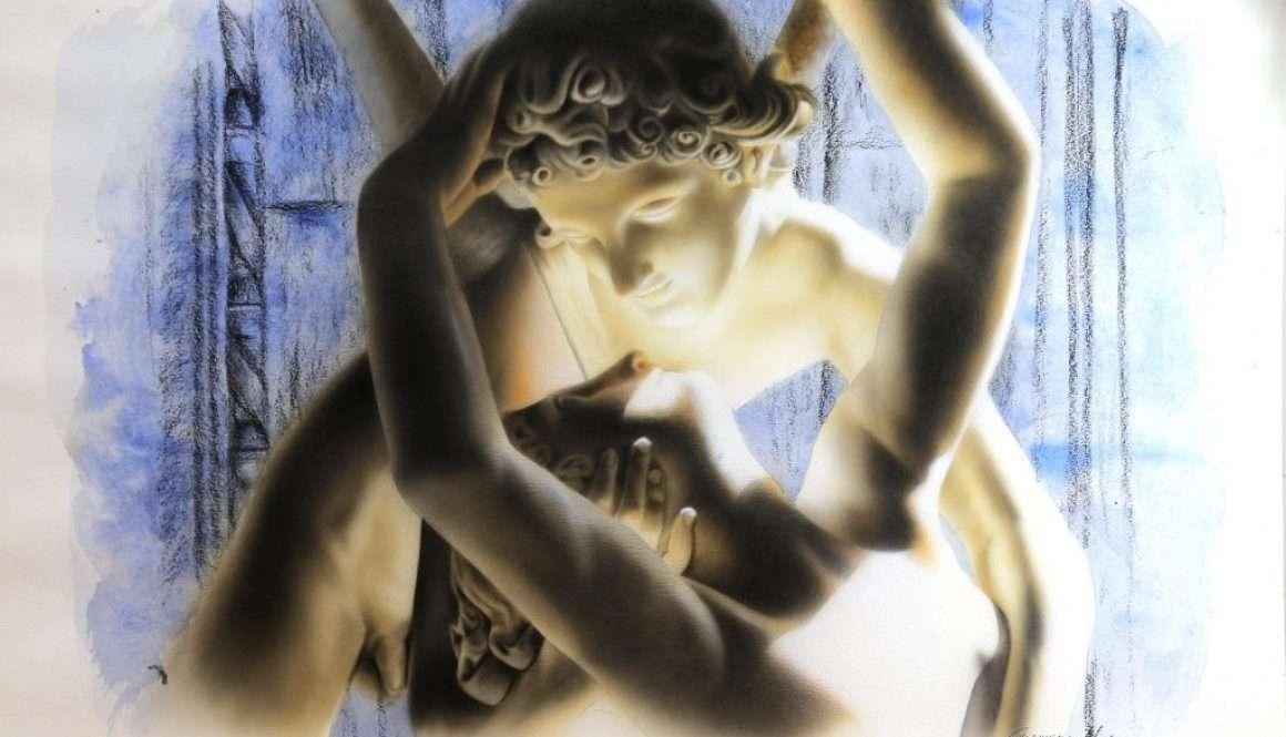 Amore & Psiche - Acriliyc on Paper - 70x50 cm
