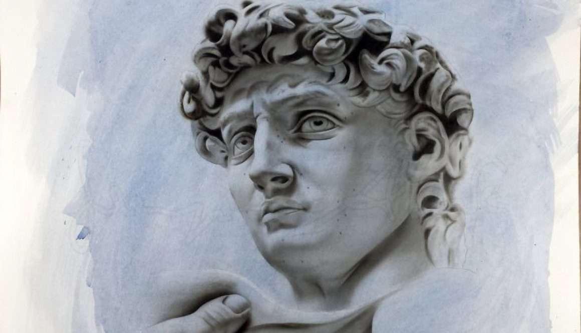 David - Acrilico su carta - 50x70 cm - 2014 - Collezione Privata Caserta