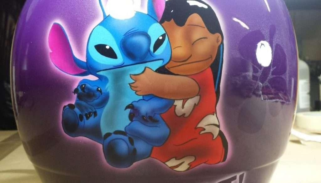 Aerografia Casco Lilo & Stitch - Giampiero Abate (3)