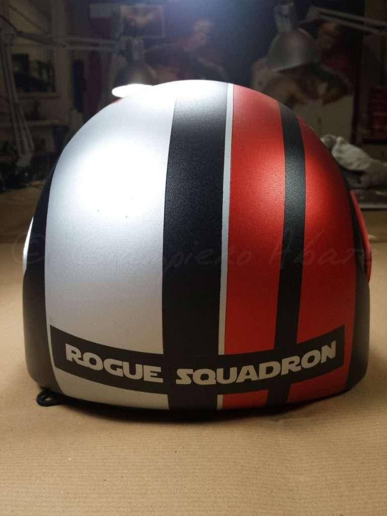 Aerografia Casco Star Wars Rogue Squadron - Giampiero Abate (4)