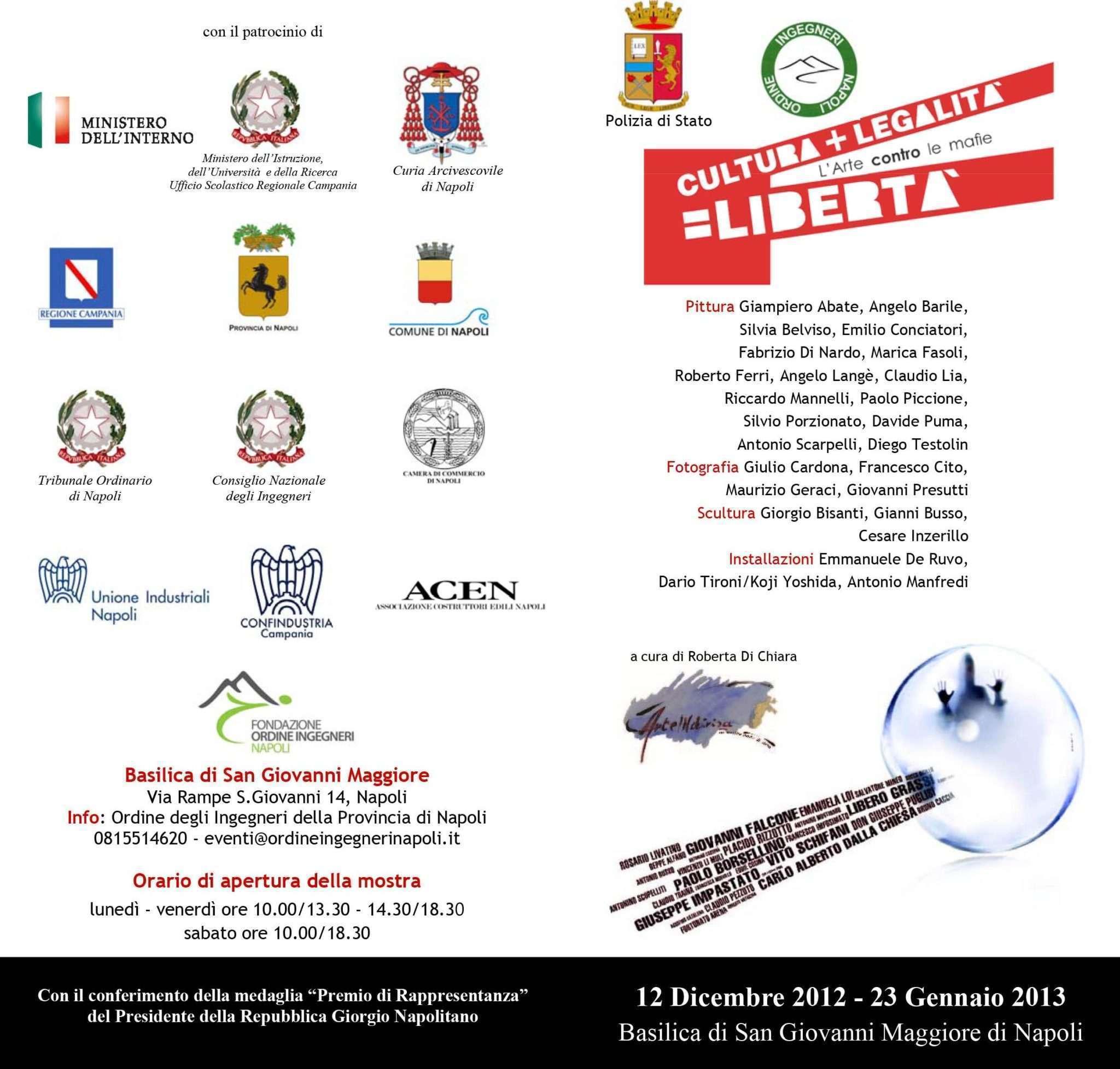 L'Arte contro le Mafie - Cultura+Legalità = Libertà Napoli