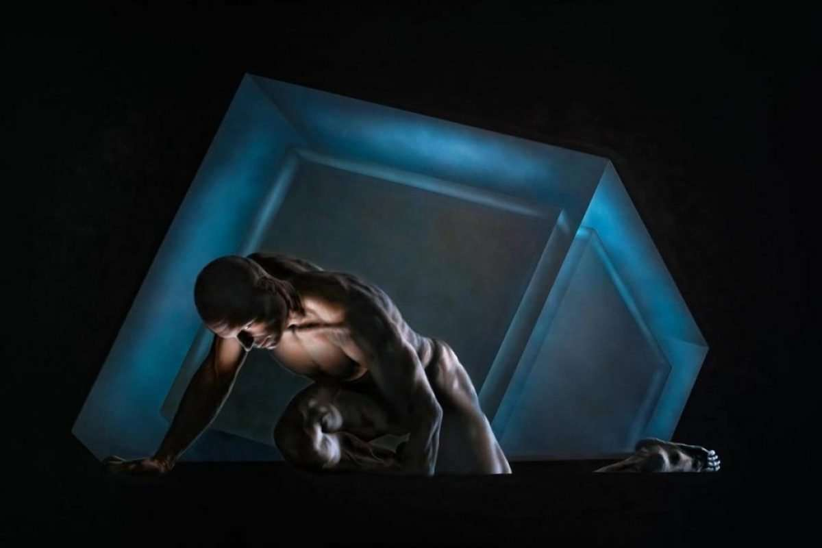 Esaedro - Acrilico su tela 150x100 cm - Giampiero Abate