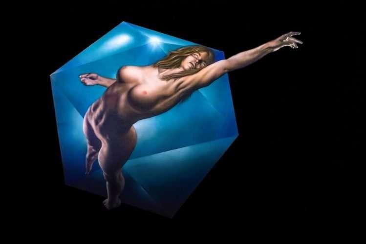 Icosaedro - Acrilico su tela - 150 x 100 cm - Giampiero Abate