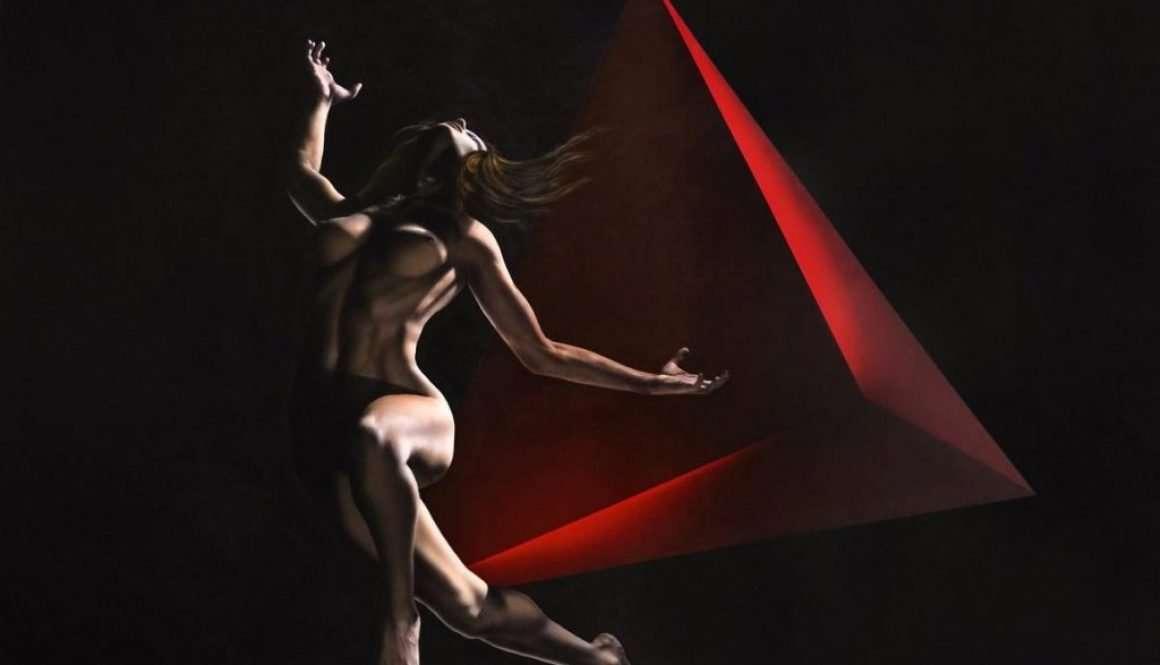 Tetraedro - Acrilico su tela - 150x100 cm
