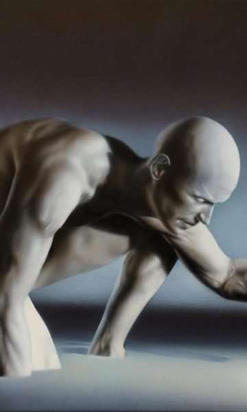 La Ricerca - acrilico su tela - 70x50 cm - Giampiero Abate