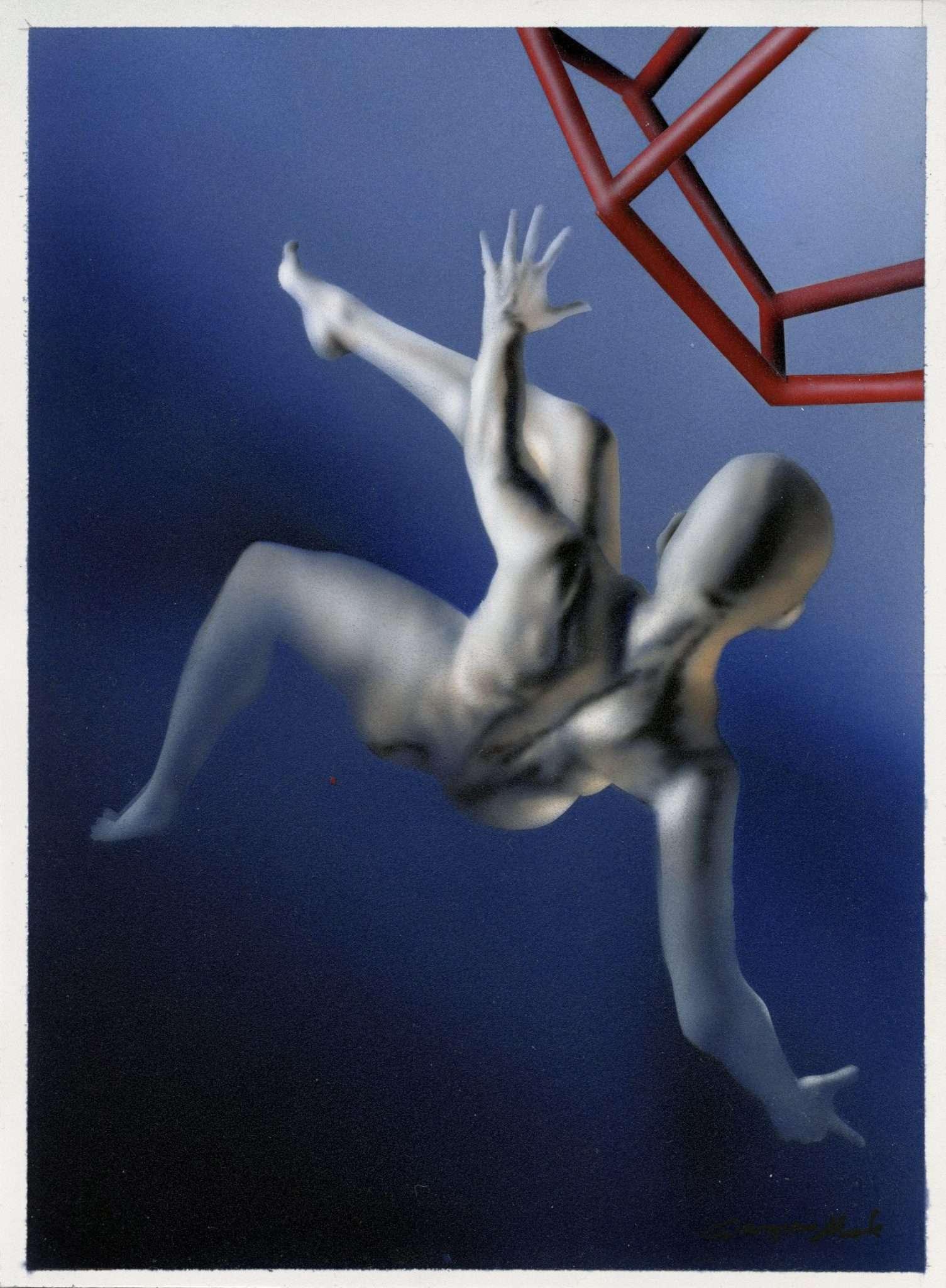 Salto Trascendentale - acrilico su pvc - 13x18 cm - Giampiero Abate