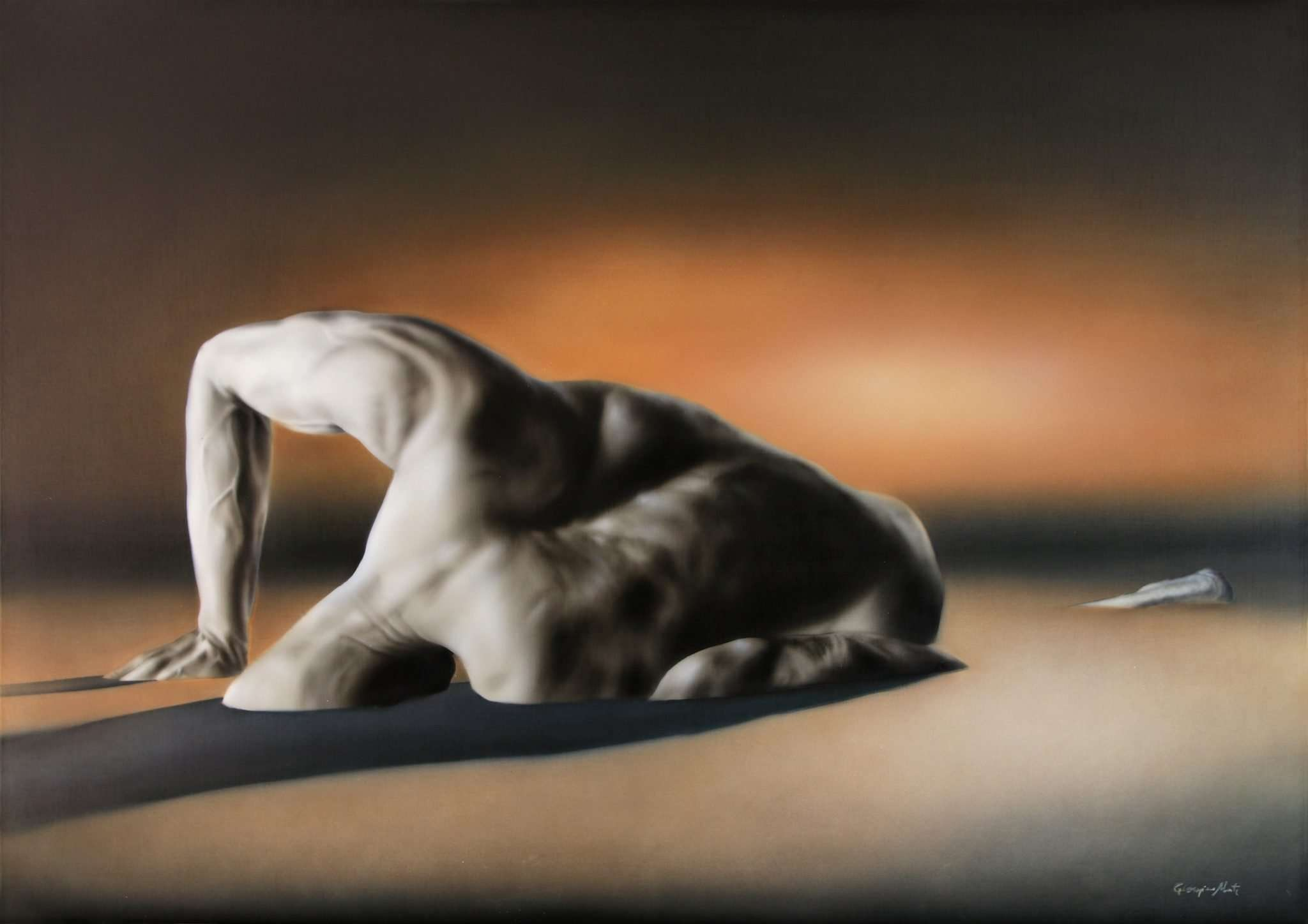 Genesi - Acrilico su tela - 70x50cm - Giampiero Abate