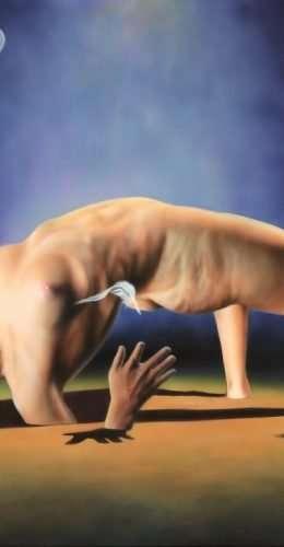 Fenice - Acrilico su tela 70x50 cm - Giampiero Abate