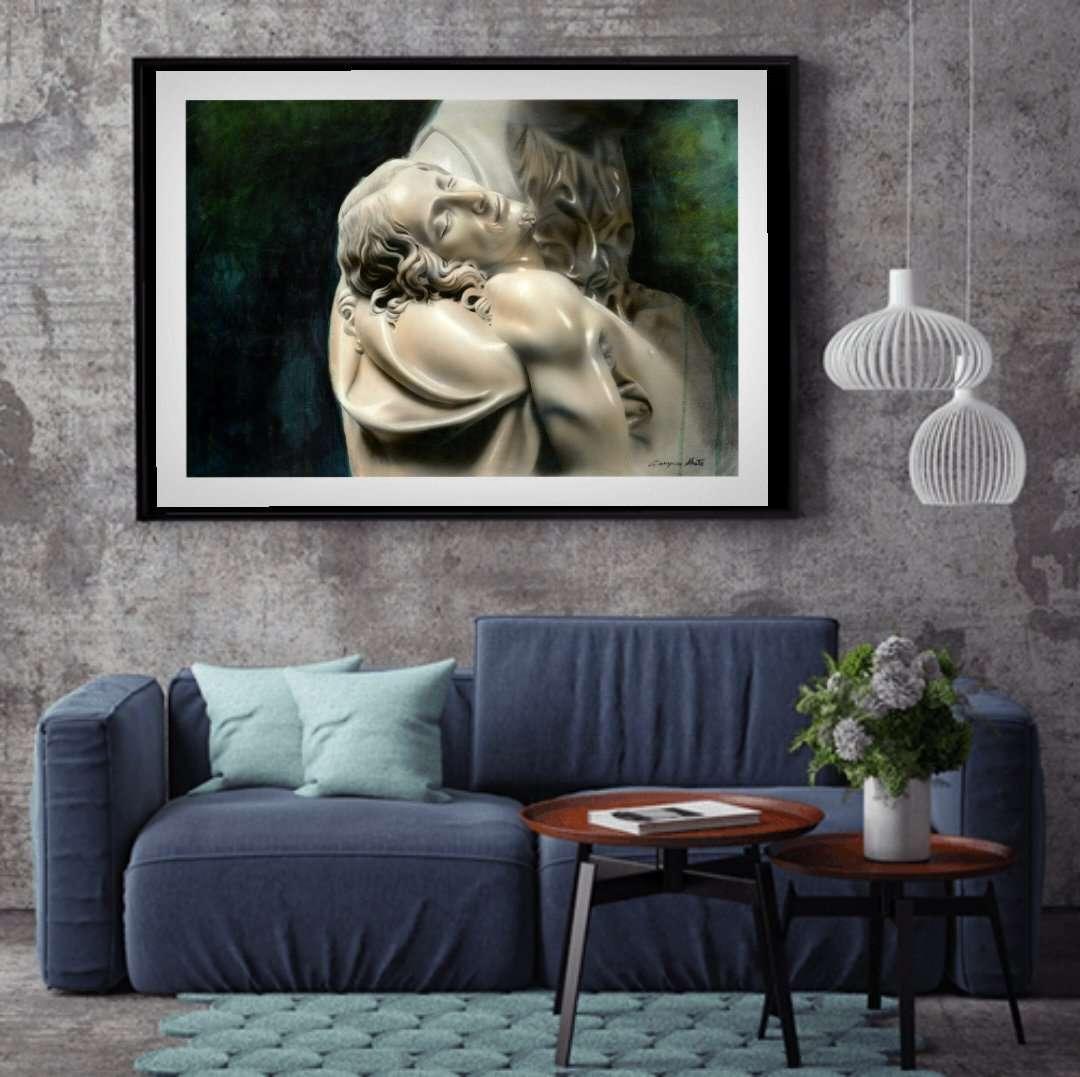 La Pieta Framed - Giampiero Abate